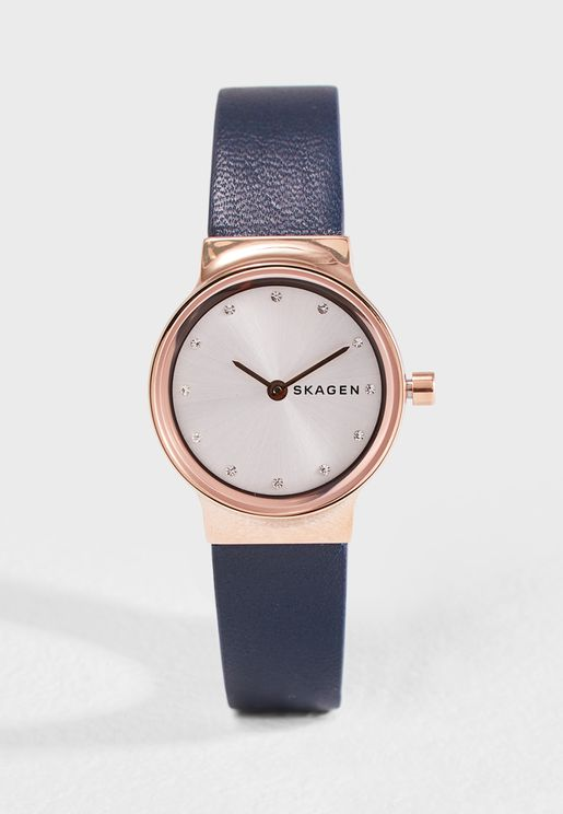 Freja Blue Leather Watch