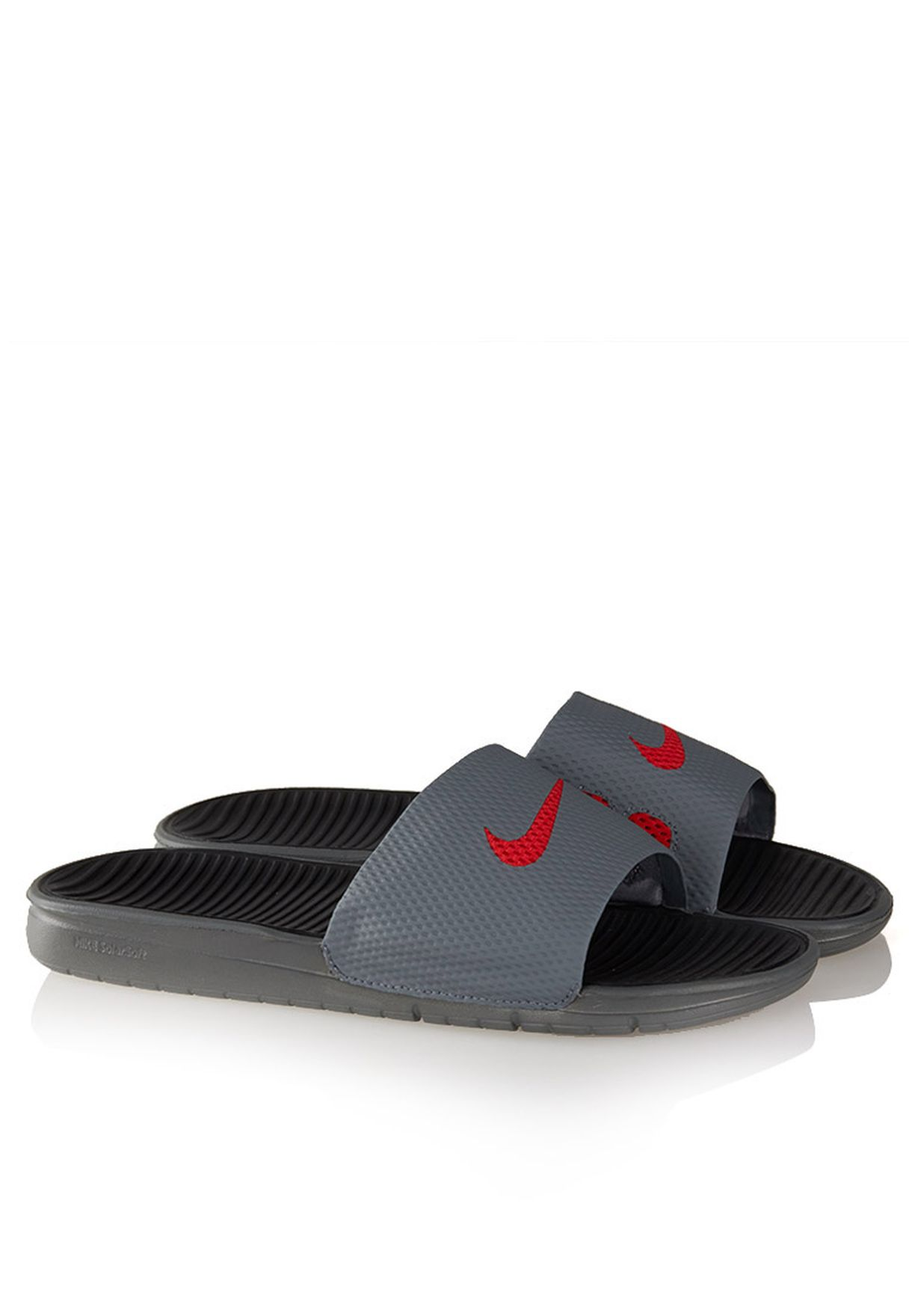 079310e7aeb3 Shop Nike grey Benassi Solarsoft Slide 431884-062 for Men in Bahrain -  NI727SH53YTA
