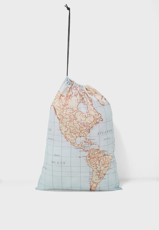 Travel Map Laundry Bags- Set of 3