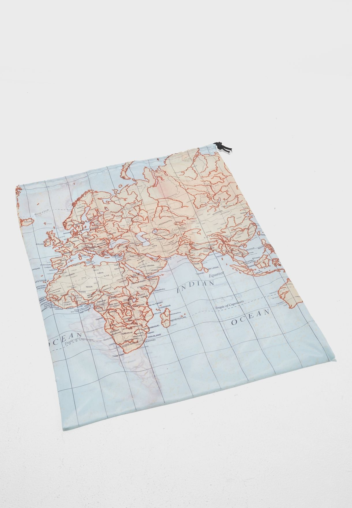 Travel Map Laundry Bags- Set of 4