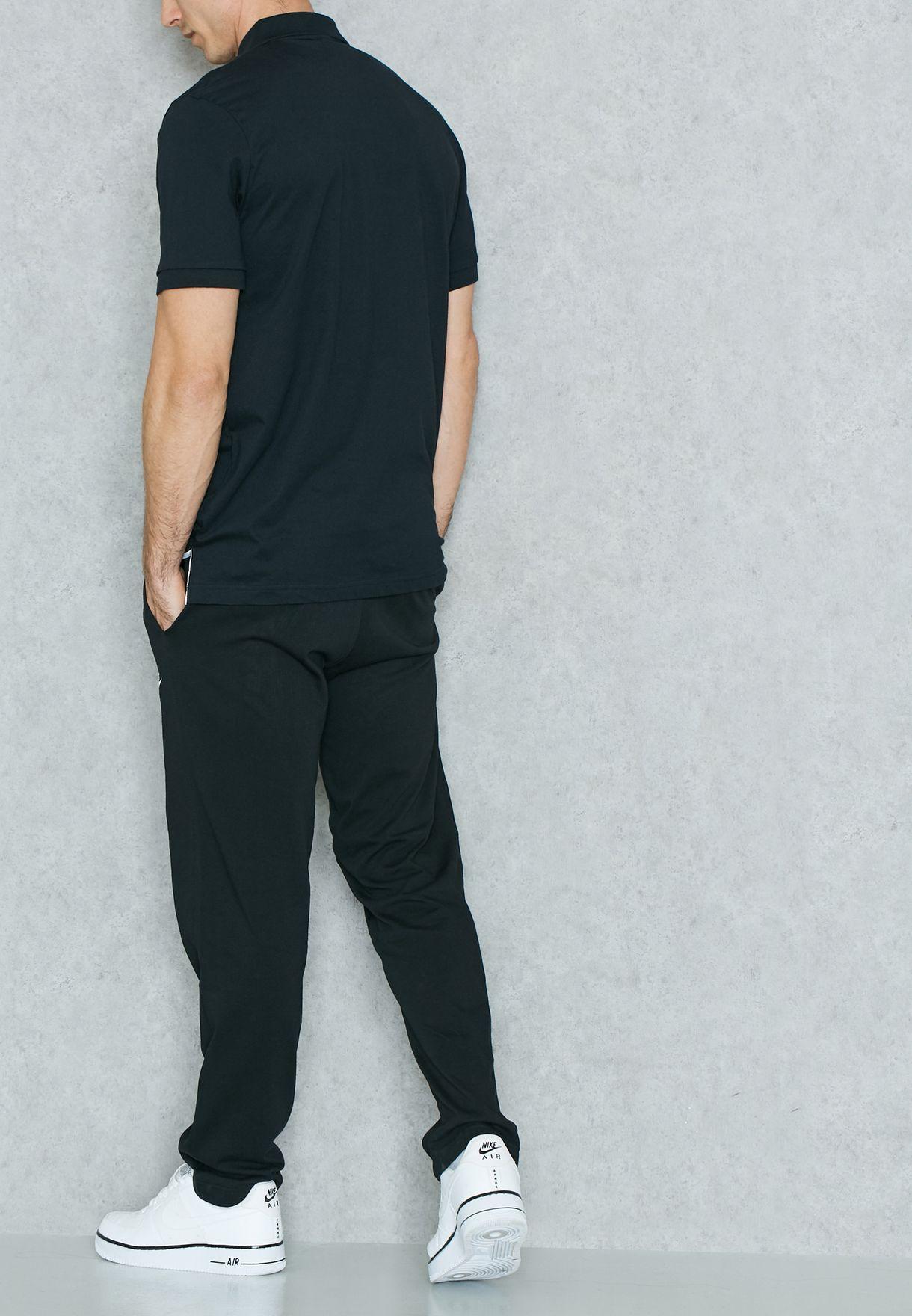 Shop Nike black Club Jersey Open Hem Sweatpants 804421-010 for ... c089cd291