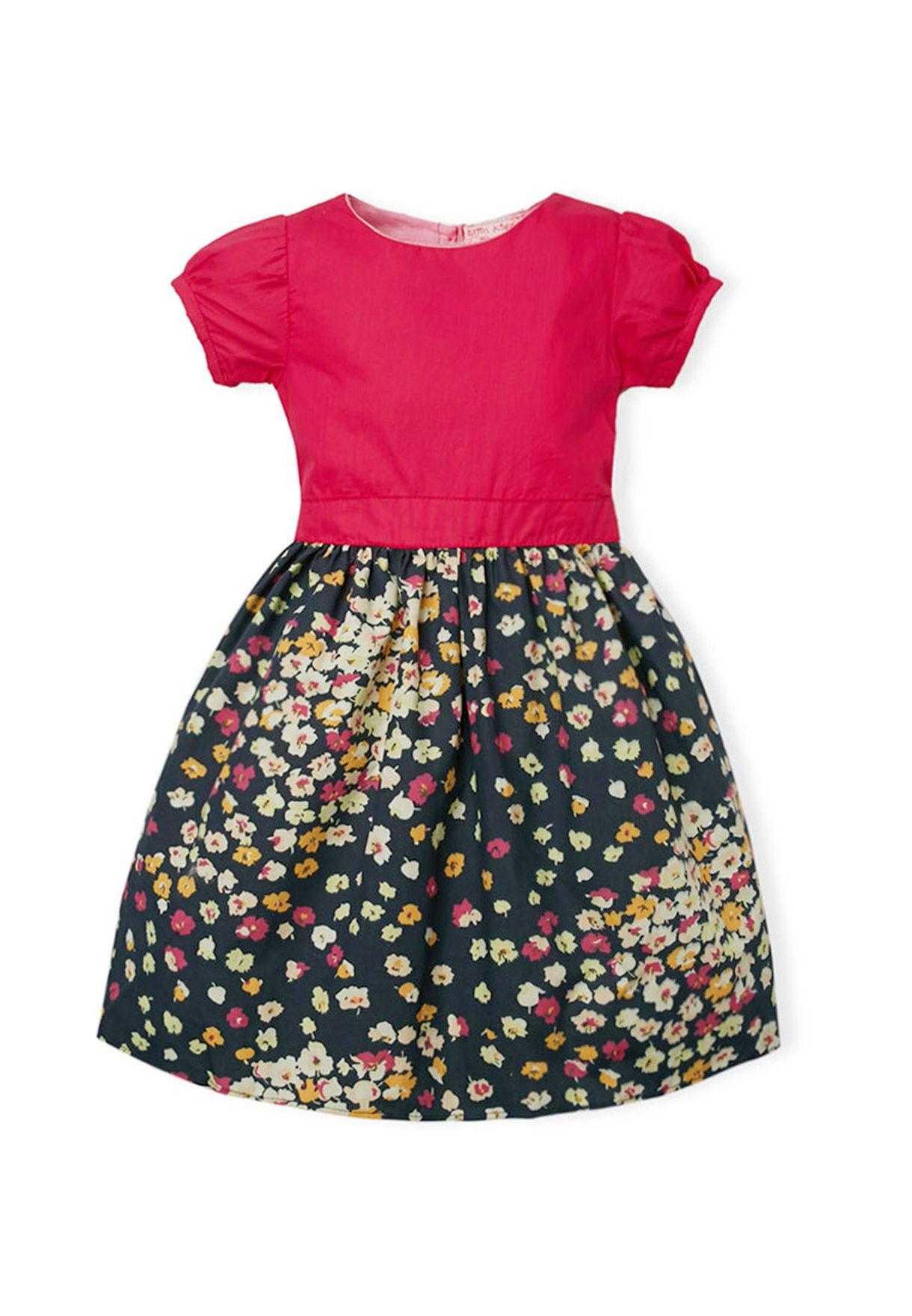 057542eda464f Shop Elfin Kidz multicolor Tracey Printed Dress for Kids in UAE ...