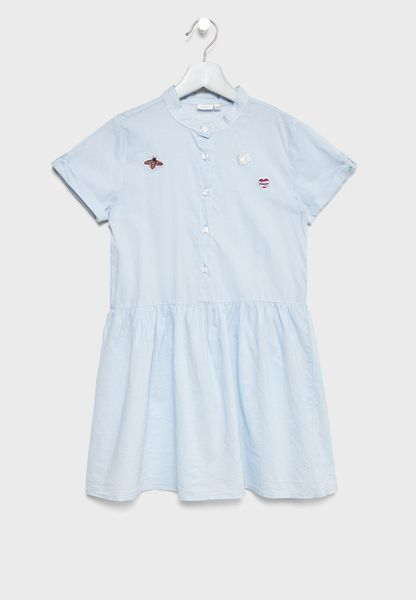 Little Patched Skater Dress