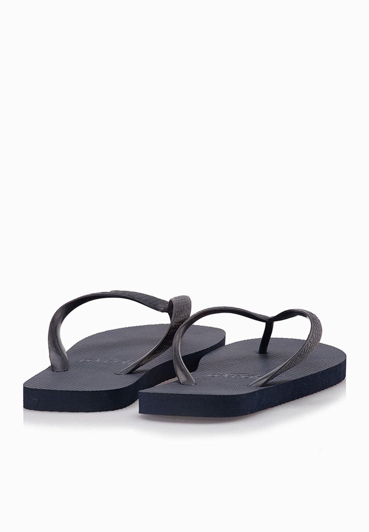 7a28c7b19ee1 Shop Lacoste blue Barona NTE Flip Flops 29SPM0062-1Z2 for Men in ...