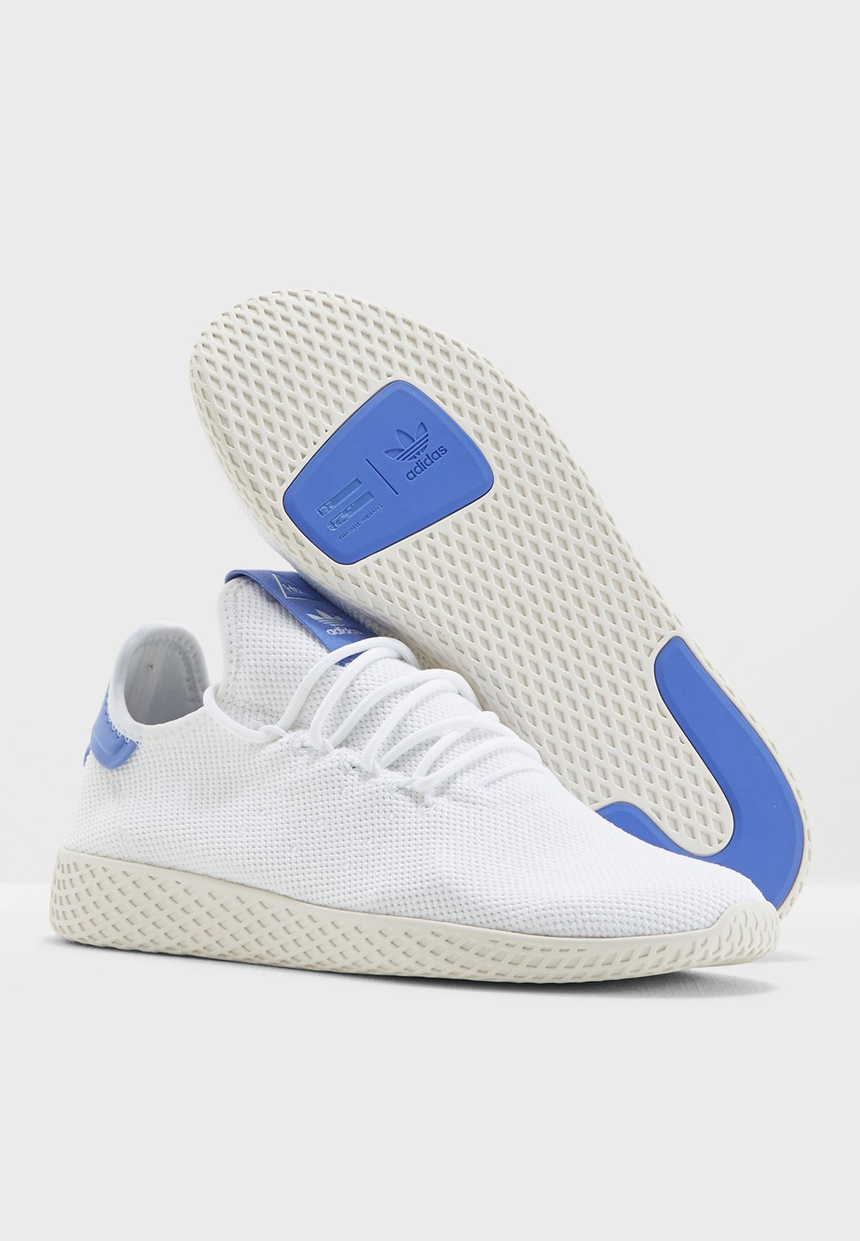 456e05ecc392c Shop adidas Originals white Pharrell Williams Tennis Hu B41794 for ...