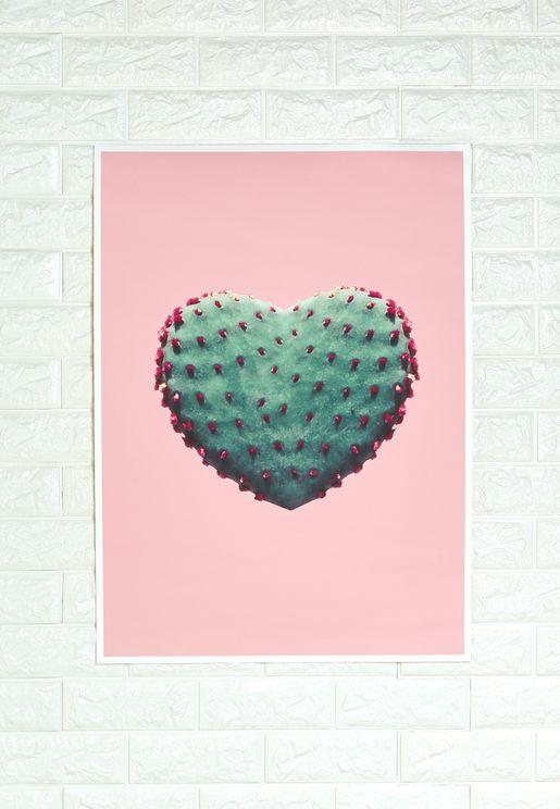لوحة فنية برسمة قلب