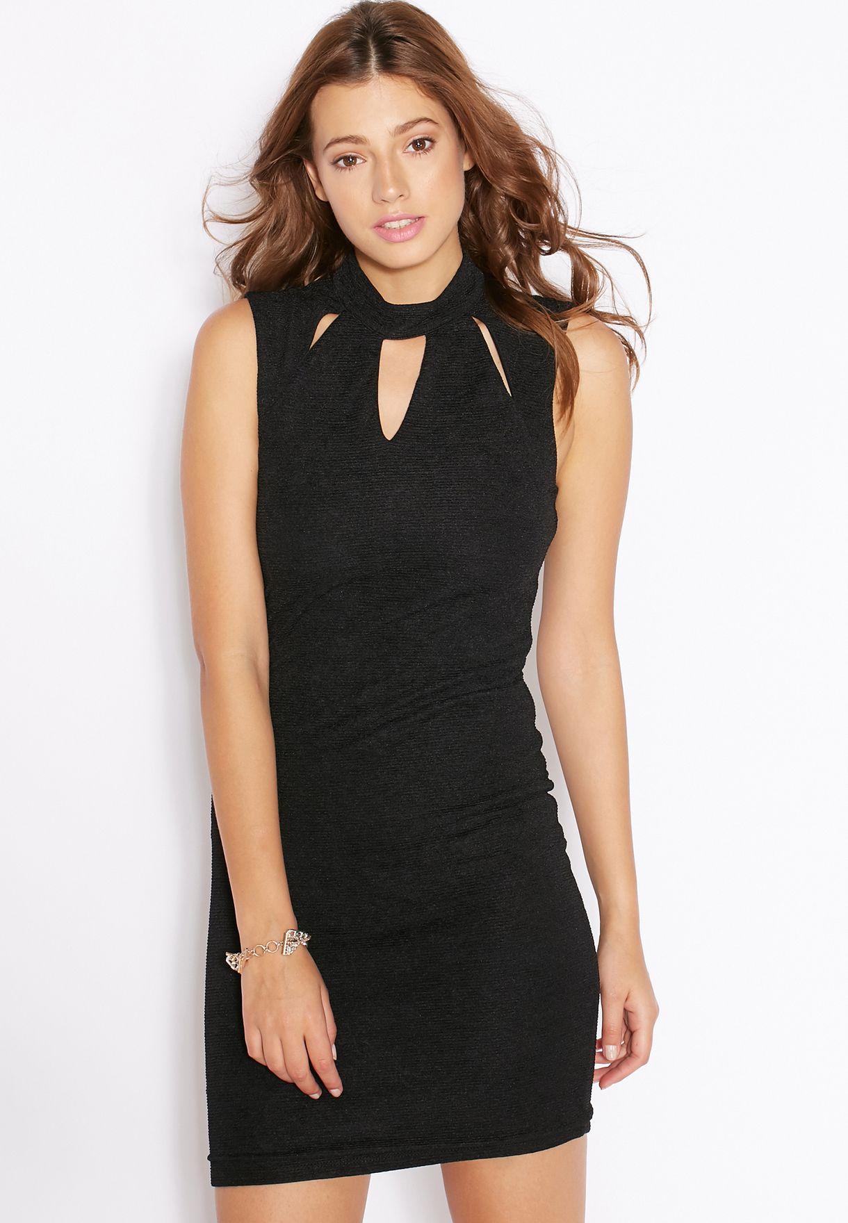 2b28200c25c3d Shop Vero Moda black Daisy Mini Dress for Women in Qatar - VE758AT53LBA