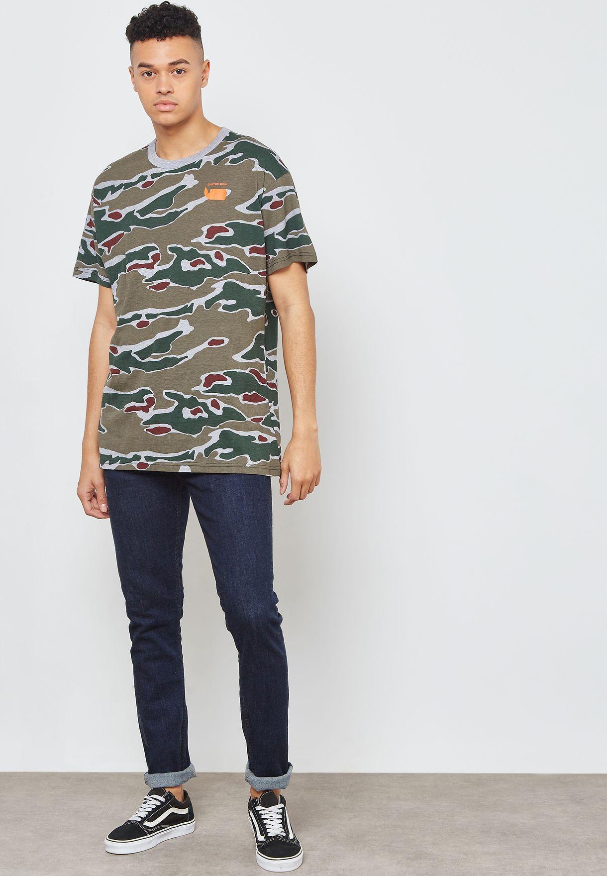Sverre Camo Crew Neck T-Shirt