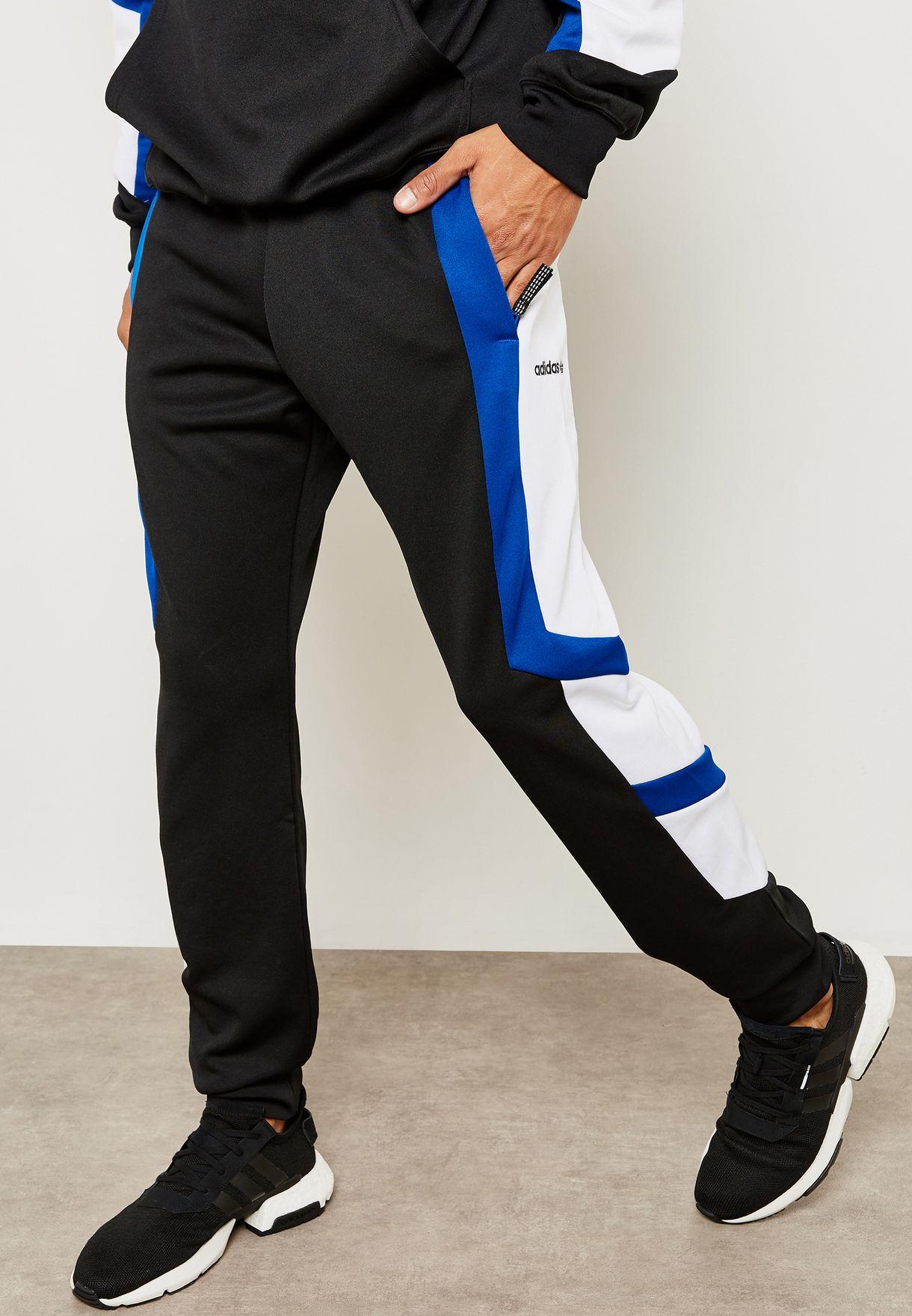 4b62f759aa64 Shop adidas Originals black EQT Block Sweatpants DH5225 for Men in Saudi -  AD478AT53HZQ