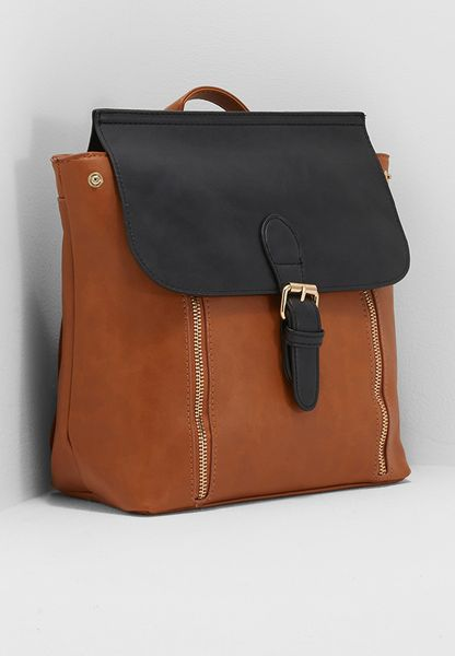 Contrast Flap Backpack
