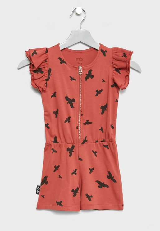 Little Bird Print Playsuit