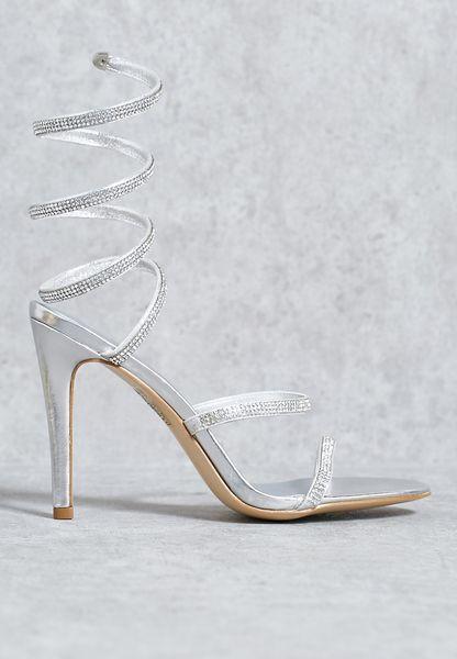 Gemstone wrap sandal