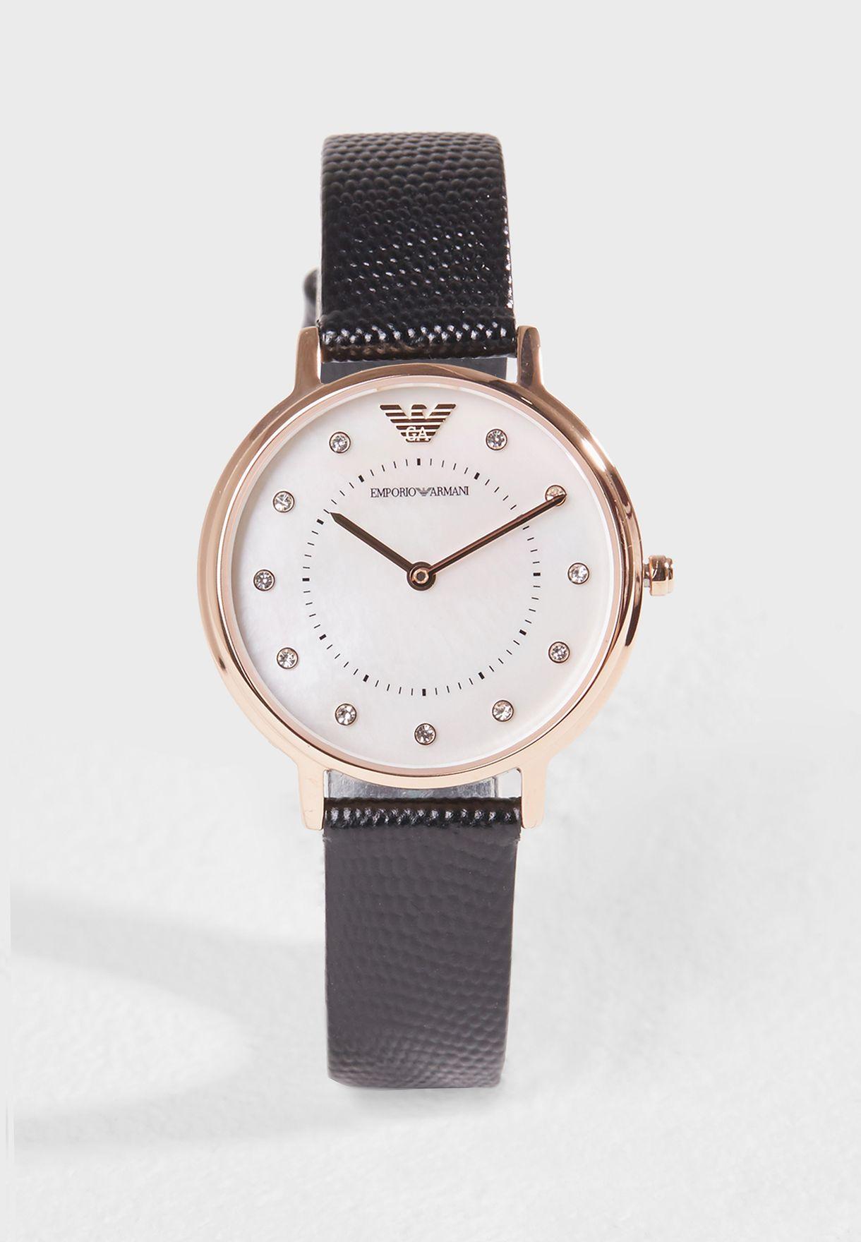6cbd97d78 تسوق طقم ساعة عصري ماركة امبريو ارماني لون أسود AR80011 في قطر ...
