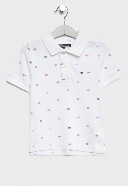 Little Printed Polo