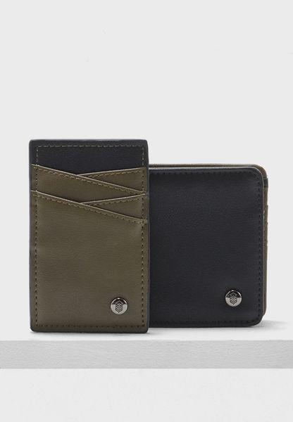 طقم محفظة وحافظة بطاقات