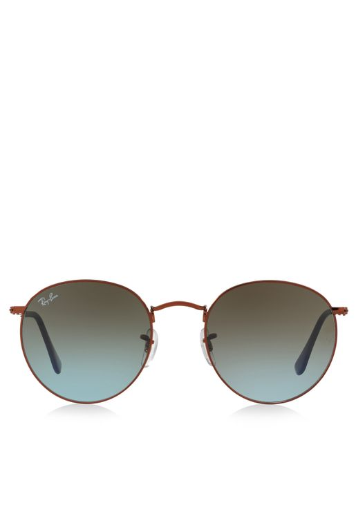 0RB3447 Round Metal Sunglasses