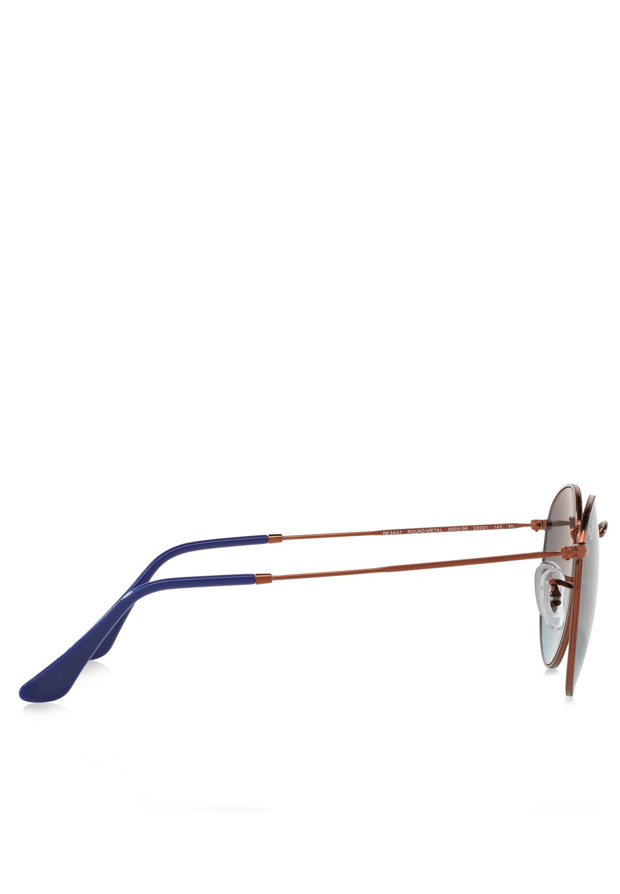نظارة شمسية معدنية دائرية