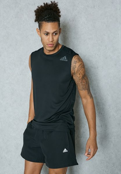 145d4e7eaa98 Shop Adidas black Climacool Vest BK1313 for Men in UAE cheap - modx ...