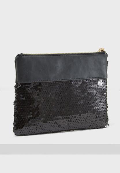 Black Sequin Pencil Case