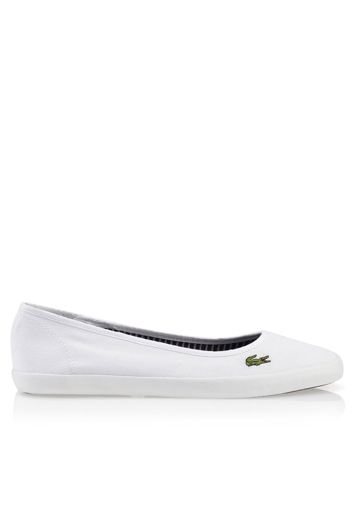 dc71ae07e714 Shop Lacoste white Marthe FRS Slip ons 27SPW0117-21G for Women in ...