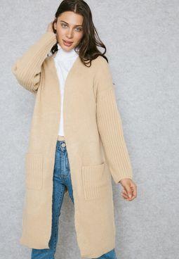 Longline Pocket Detail Cardigan