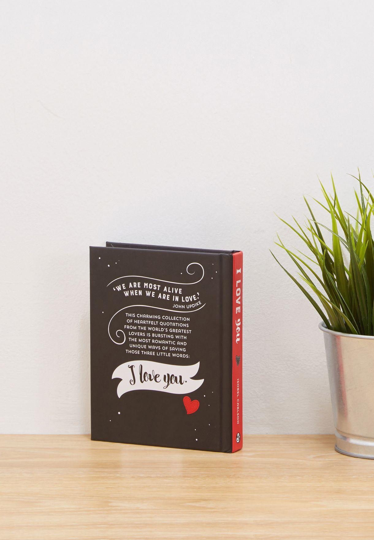 "كتاب ""I Love You "" (أحبك)"