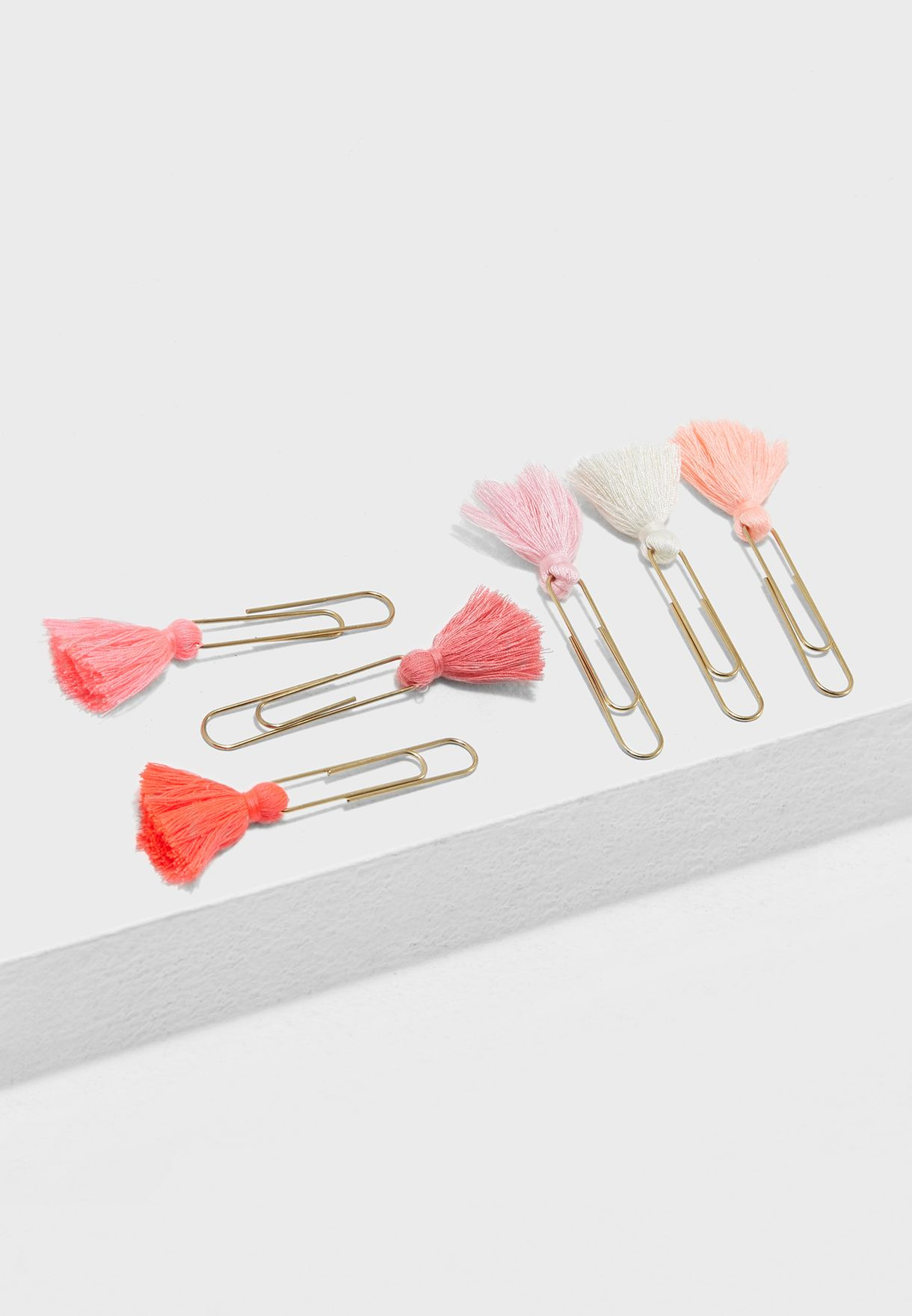 6 Tassel Paper Clips Set