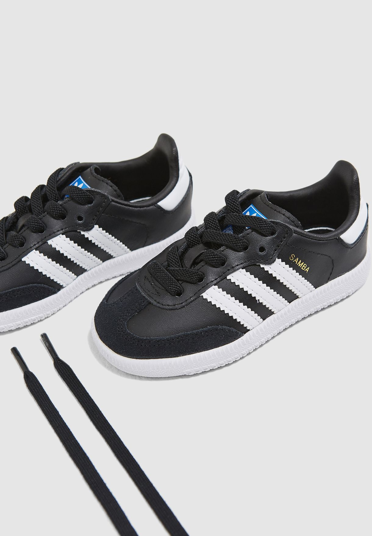 c4f8ed0e356 Shop adidas Originals black Infant Samba OG EL B42129 for Kids in ...