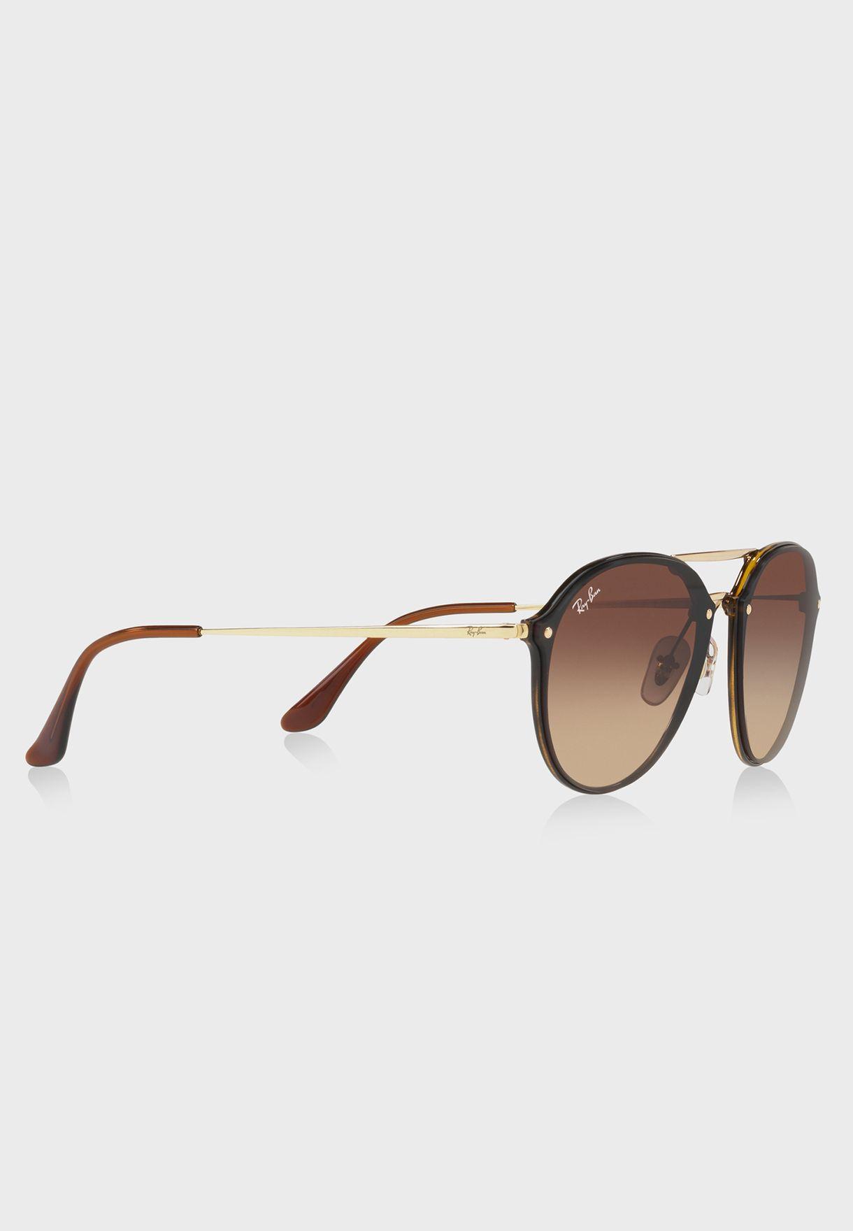 484dc2f53cb Shop Ray-Ban gold Double Bridge Sunglasses 8053672837865 for Men in ...