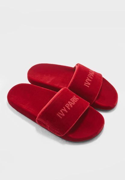 Velvet Embossed Logo Sliders
