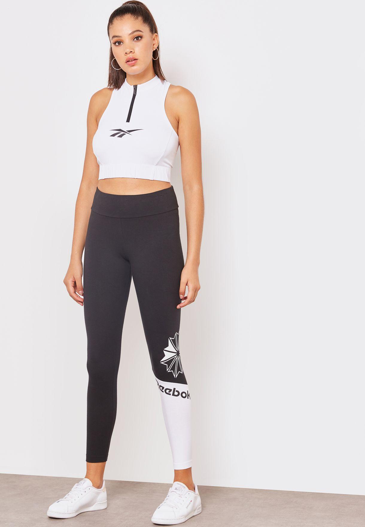 2fef6f5359ee5 Shop Reebok black Classic Leggings DH1335 for Women in Bahrain ...