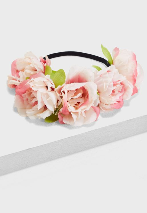 Elasticated Floral Headband