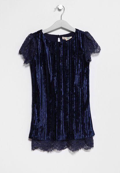 Tween Velvet Dress