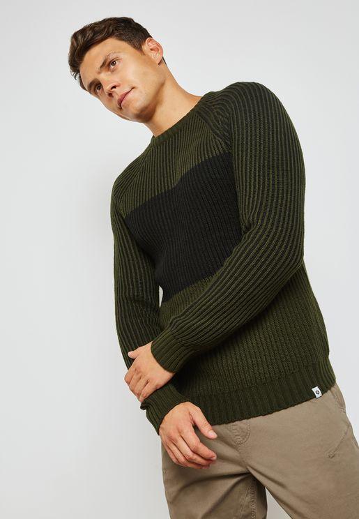 Tampa Color Block Sweater
