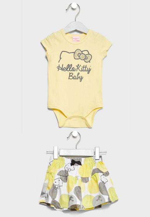 Infant Bodysuit + Skirt Set
