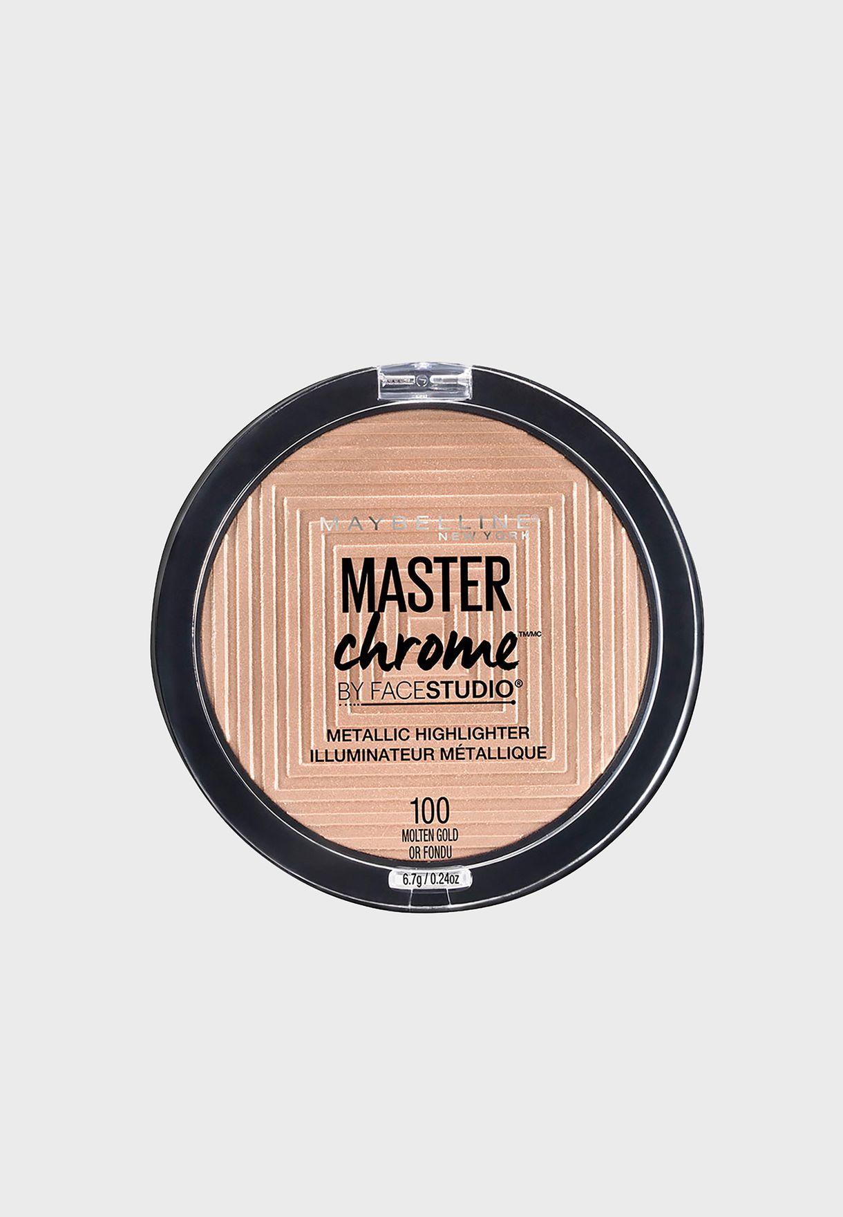 Master Chrome Bronzer and Highlighter Metal 100 Molten Gold
