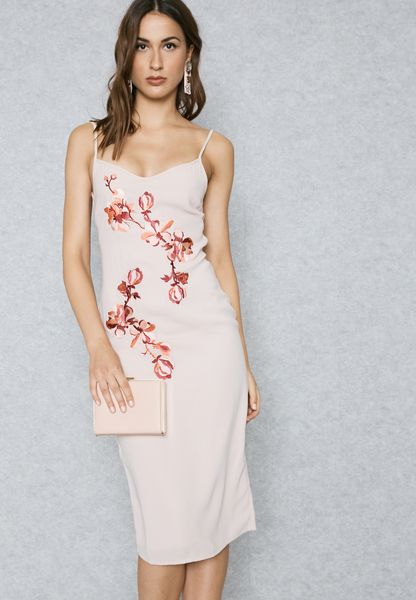 Embroidered Cami Shift Dress