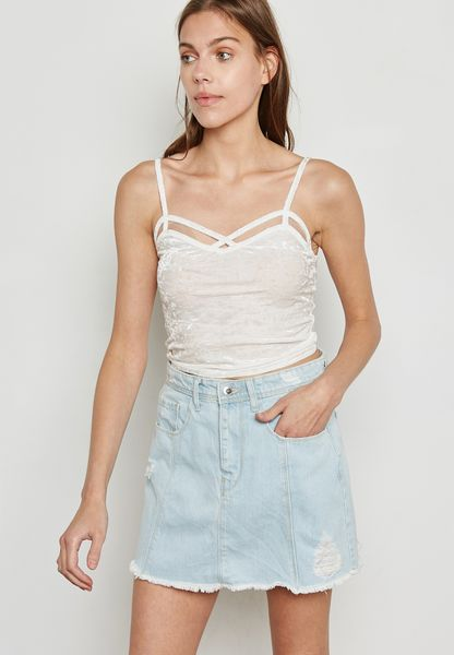 Velvet Strappy Cami Top
