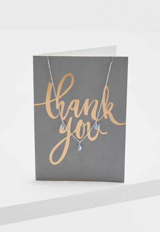 Thank You Necklace With Giftcard