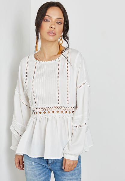 Lace Detail Smock Top