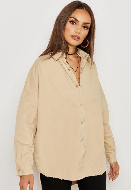 Over-sized Denim Shirt