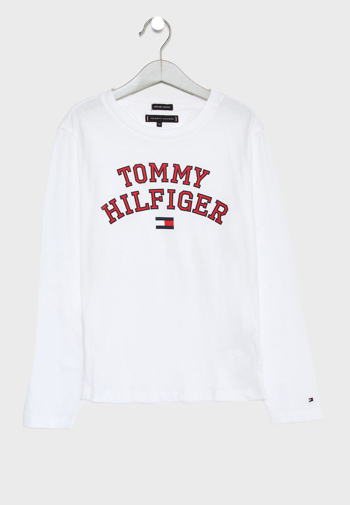 b69e9963fdaf Shop Tommy Hilfiger white Teen Logo T-Shirt KB0KB04432 for Kids in ...