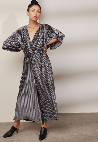 Shimmer Pleated Jumpsuit