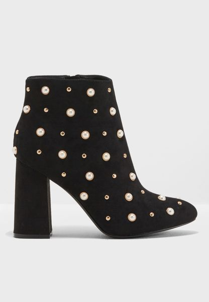 Becca Pearl Trim Ankle Boot