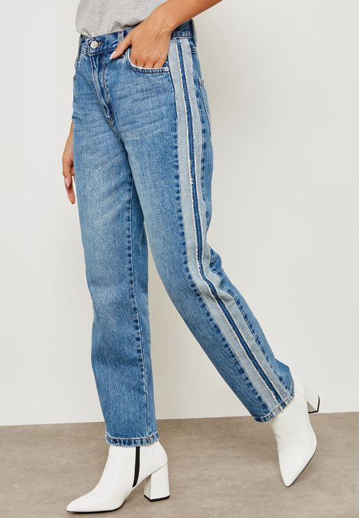 Side Striped Jeans