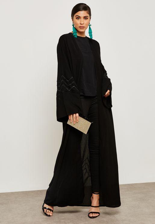 Beadwork Dantel Detail Abaya