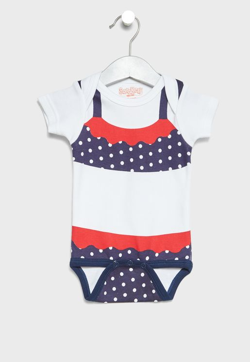 Infant Polka Dot Bikini Printed Body Suit