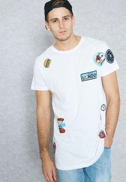 Long Line Badge T-Shirt