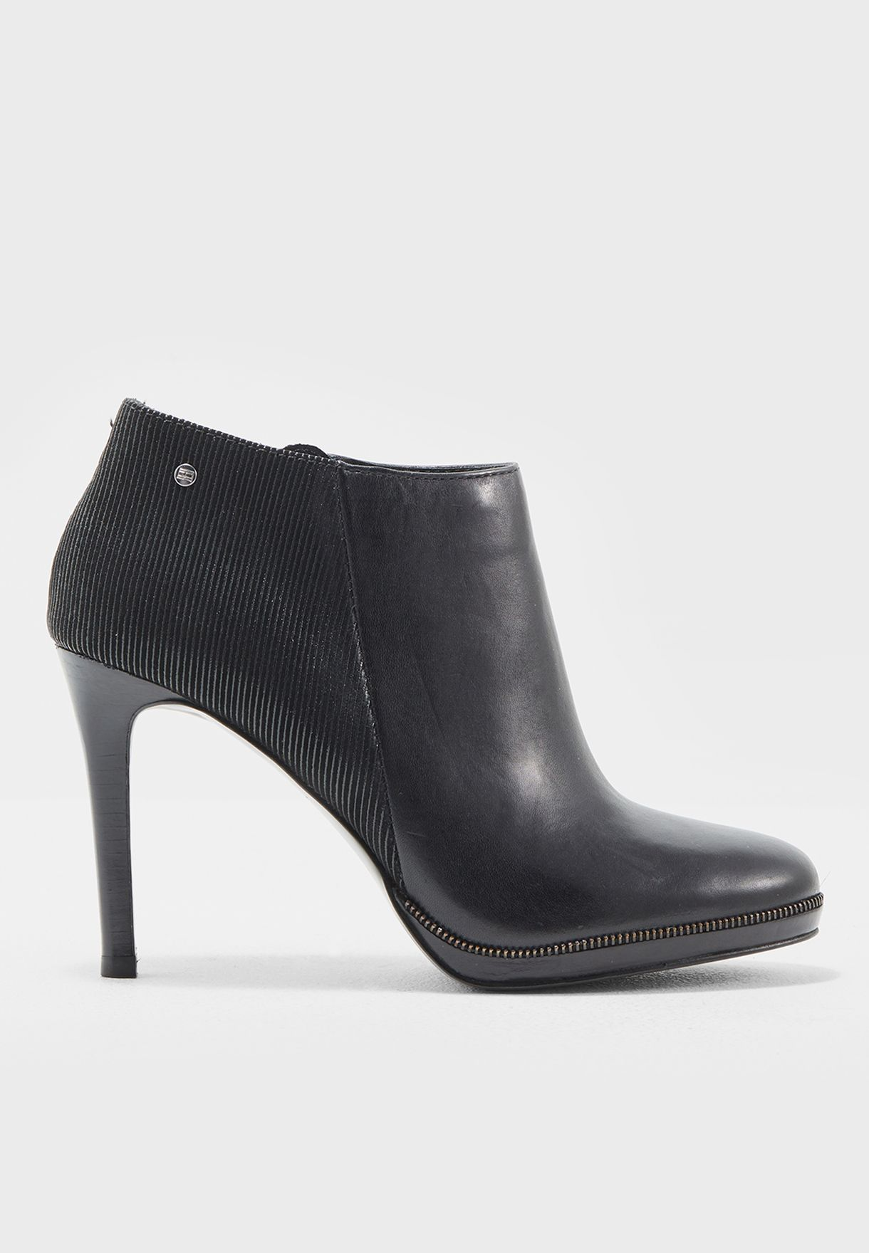 1ff237518d9726 Shop Tommy Hilfiger black High Heel Ankle Boots FW0FW01731 for Women ...