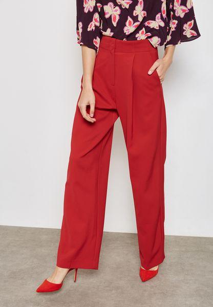 Pleated Texture Pants